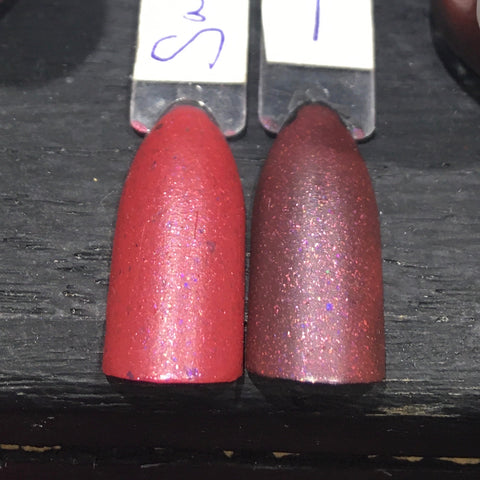 Clearance: Sausage King of Chicago Nail Polish - satin-finish bright rose pink with flakies - Fanchromatic Nails