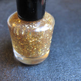 My Precious Nail Polish - gold flake glitter top coat - Fanchromatic Nails