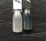 Awesome Mix Volume 1 Nail Polish - linear holographic flake top coat - Fanchromatic Nails