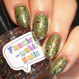 Our Most Sacred Offering Nail Polish - pastel botanical glitter topper - Fanchromatic Nails