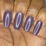 Do You Feel Held? Nail Polish - warm-toned purple with blue & red shimmer - Fanchromatic Nails