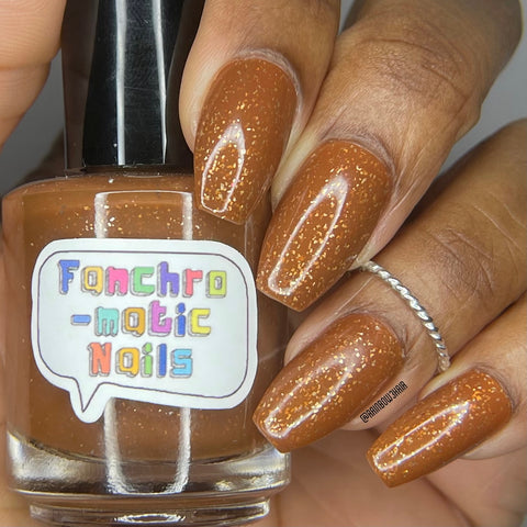 Ignore The Bear Nail Polish - umber-toned brown with pure silver flakes