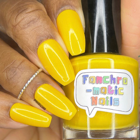 The Precious Sun Nail Polish - rich buttery yellow creme - Fanchromatic Nails