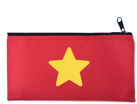Steven's Star Shirt - customized zippered cosmetics bag - Fanchromatic Nails