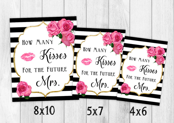 picture about How Many Kisses for the Soon to Be Mrs Free Printable known as How Lots of Kisses For The Long run Mrs - Match - Electronic Down load