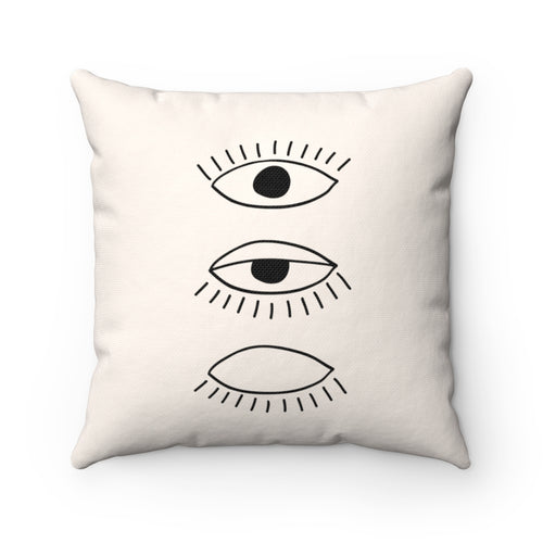 Trio Eyelashes Decorative Pillow