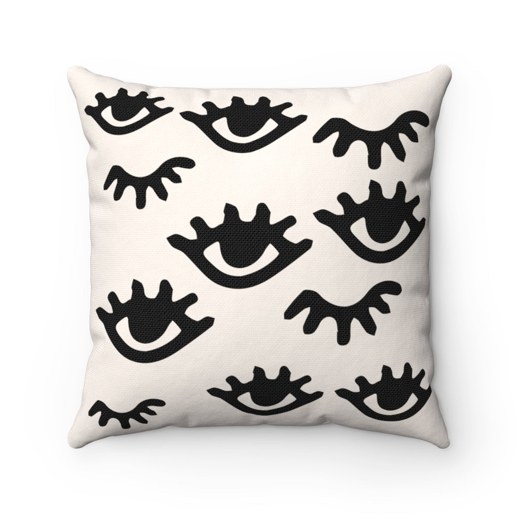 eyelash decorative pillows