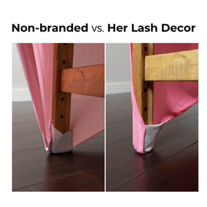 pink lash bed cover
