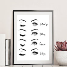 Load image into Gallery viewer, eyelash wall decor
