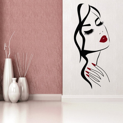 salon wall sticker