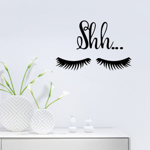 eyelash decals for walls