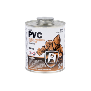 Clear Regular PVC inBelow Zeroin Cement