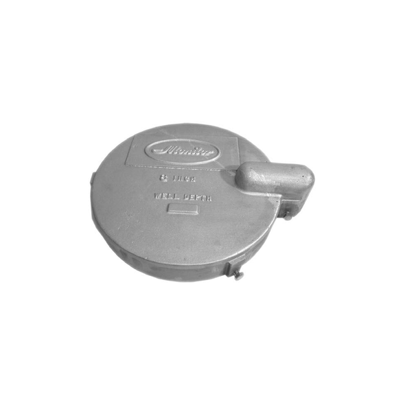 8in Aluminum Low Profile Watertight Well Cap