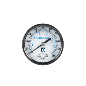 0.25in 0-100PSI Backmount Black Steel Case Pressure Gauge