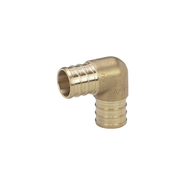 Brass PEX Crimp 90º Elbow