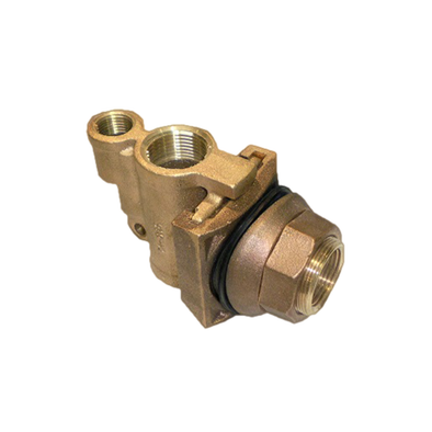 Brass Slide Pitless Adapter With 0.5in Accessory Tap