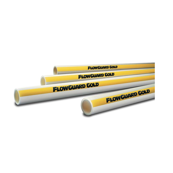 CPVC Plain End Flowguard Gold Pipe