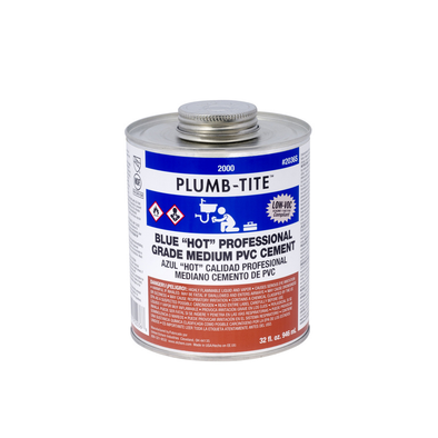 Blue Medium Hot PVC Cement