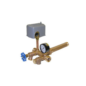 Brass Union Tank Tee Package - 1 x 10in 40/60 Sq. D, Ball Valve & Plugs