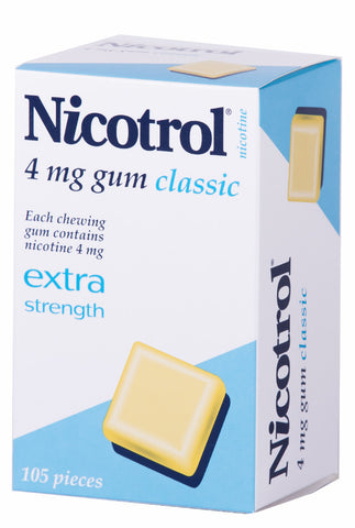Nicotrol Nicotine 4mg Classic Chewing Gum 105 Pieces