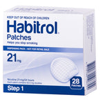Habitrol Nicotine Patch 21mg Step-1 28 Piece Pack
