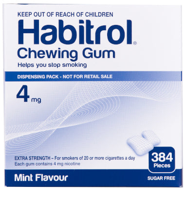 Habitrol Nicotine Gum | 4mg Mint | 384 Piece Pack