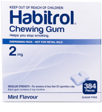 Habitrol 2mg Mint Flavor 384 Bulk Chewing Gum Pack