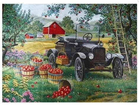 """Apple Orchard"" Diamond painting - Full"