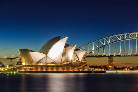 """Sydney Opera House"" Diamond Painting - Full"