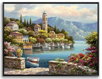 """Village in Bay"" Diamond Painting - Full"