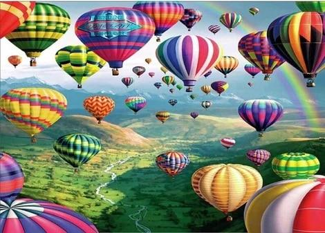 """ Hot Air Balloons"" Diamond Painting - Ful"