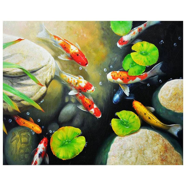 """Fish in a Pond"" Diamond Painting - Full"