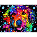 """Multi colored Dog"" Diamond Painting - Full"