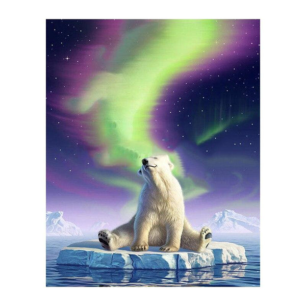 """Polar Bear"" Diamond Painting- Full"