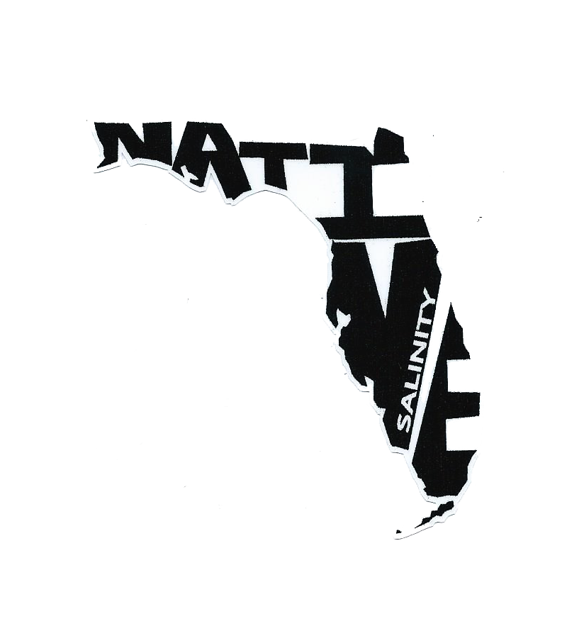"Florida Native sticker size 2.5"" X 3"" inches (ideal for back of phones)"