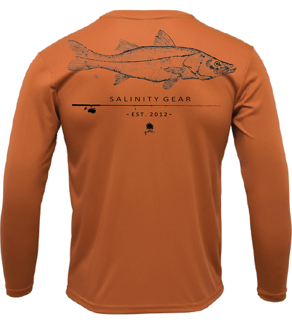 Performance Snook Gyotaku L/S - Rusty Orange
