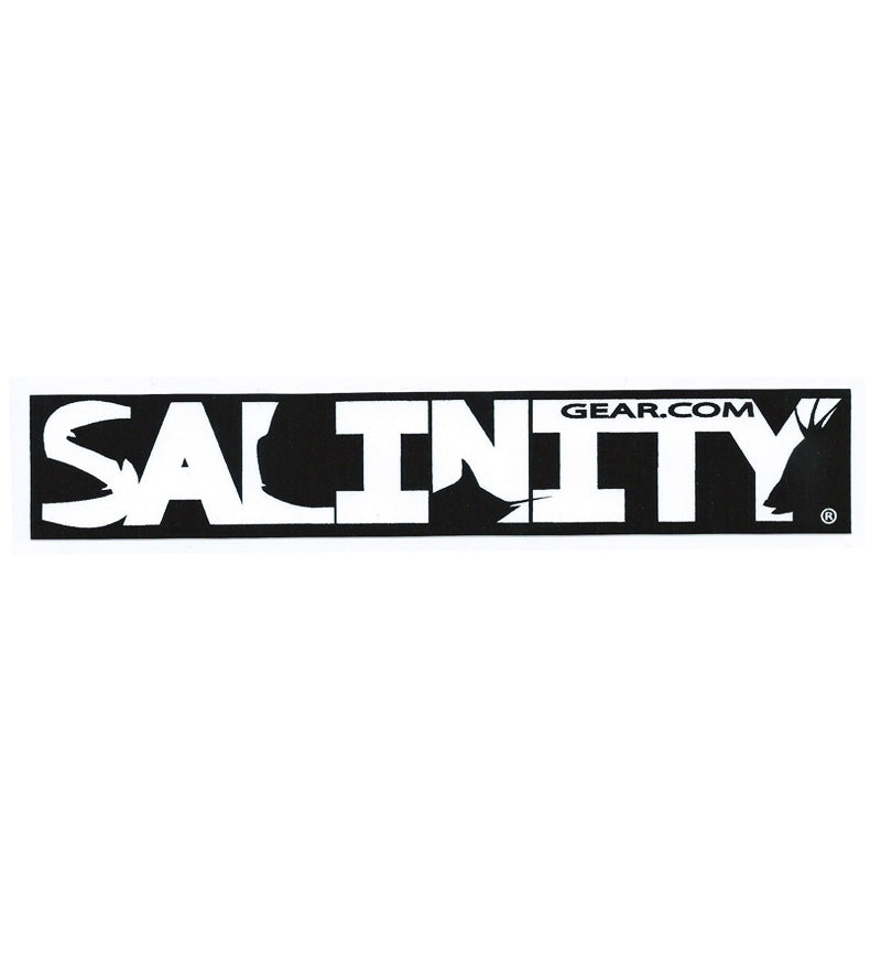 Salinity Logo sticker Black and White with UV protective coating