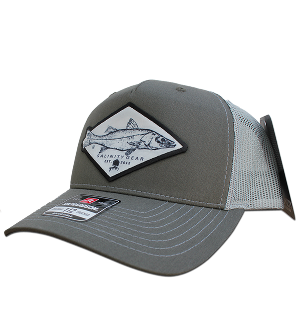 Snook Gyotaku Patch Hat - Beetle/Quarry