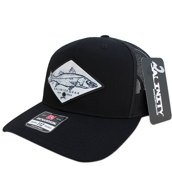 Snook Gyotaku Patch Hat - Black