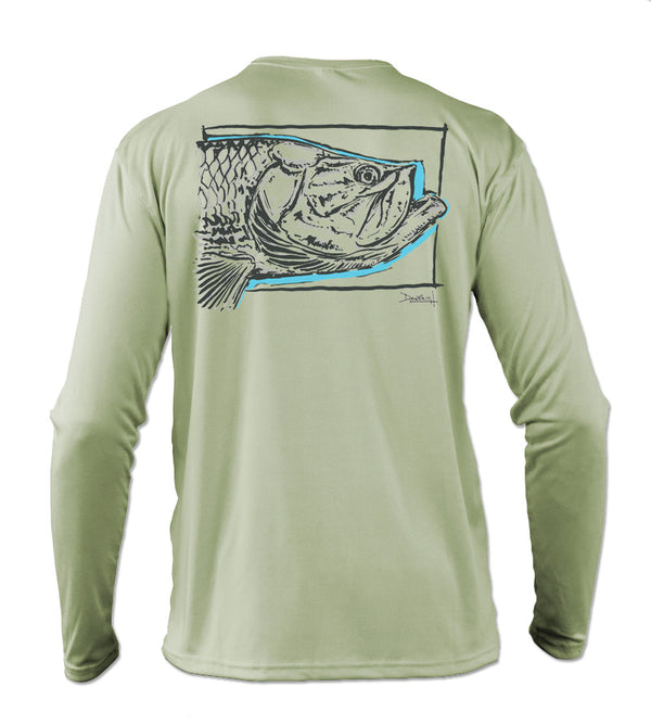 af35d02fcd3 Salinity Gear performance SPF 50 sun protection dri-fit long sleeve fishing  shirt. Sage