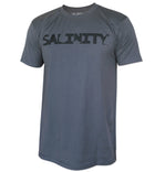 Salinity Gear Florida Native Bull Shark short sleeve fishing shirt. Charcoal grey cotton t-shirt with screen printed design.