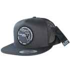 Salinity Gear charcoal grey Florida Native Patch snapback trucker hat