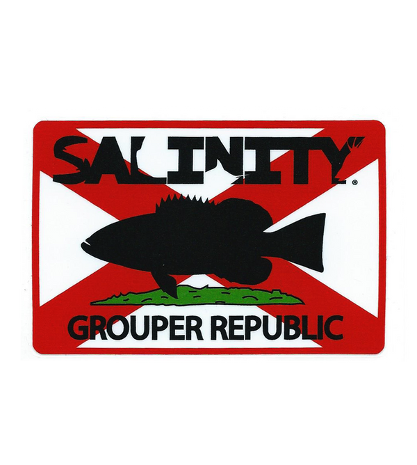 Salinity Gear Grouper Republic sticker with UV protection
