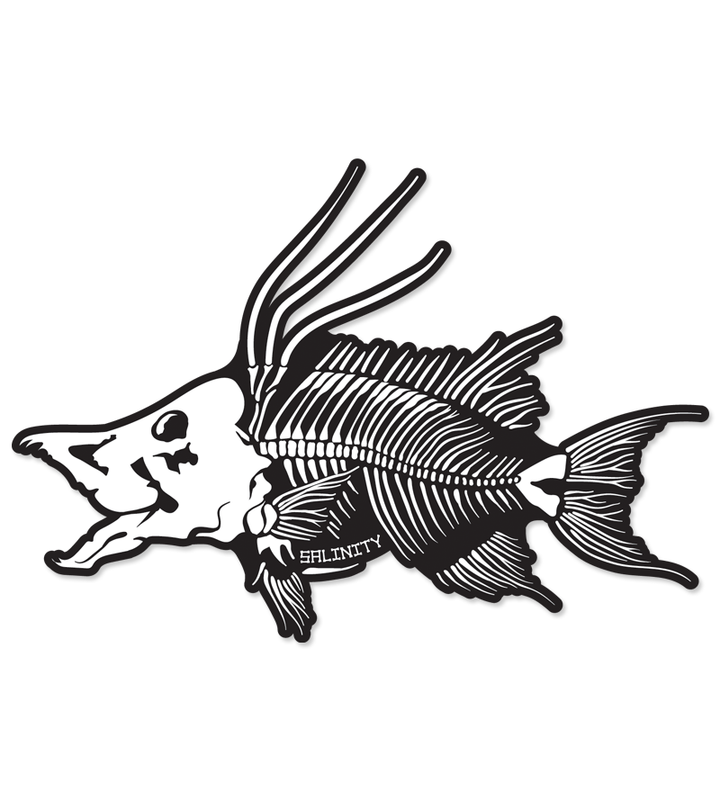 Hogfish Skeleton Sticker
