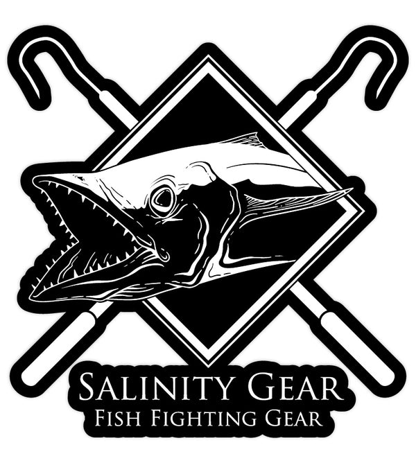 Salinity Gear Kingfish Sticker - Fish Fighting Gear vinyl sticker with UV coating