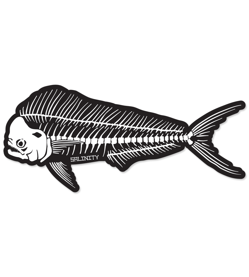 Mahi Skeleton Sticker