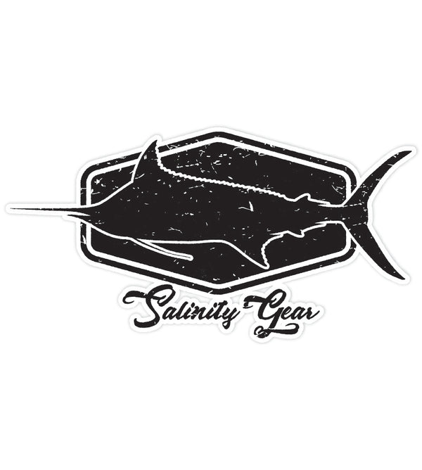 Salinity Gear Marlin sticker with UV coating