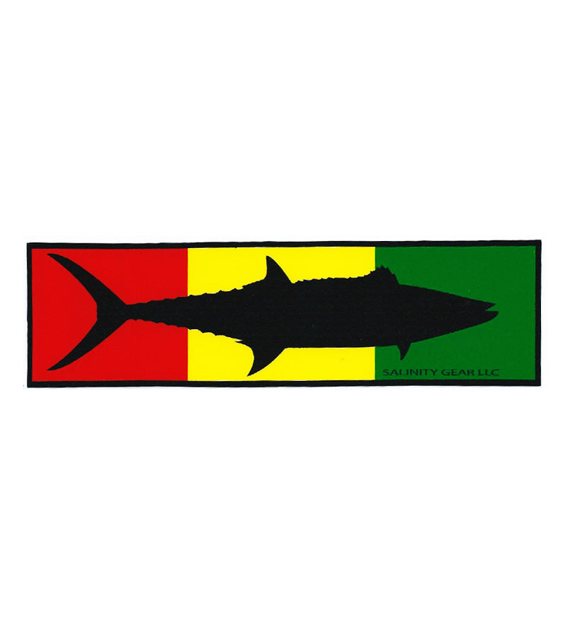 Salinity Gear Rasta Kingfish Sticker with uv protective coating