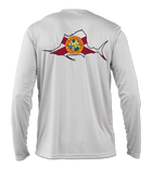 Salinity Gear Performance Fishing Shirt. UPF 50+ Dri-Fit, Florida sailfish design