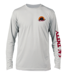 Salinity Gear Performance Fishing Shirt. UPF 50+ Dri-Fit, Florida sailfish design chest and sleeve print